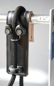 Leather fender hook camcleat